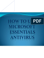Neal_Vryan_Versales How to Use Mircosoft Essentials Security