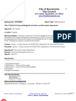 FY2012-13 Proposed Budget for City Parks and Recreation Department (5!15!2012)