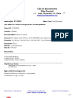 FY2012-13 Proposed Budget for City Police Department (5-15-2012)