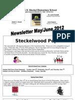 Steckel Elementary May-June 2012 newsletter