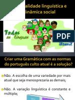 Seminário-pluralidade linguística e dinâmica social