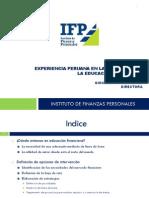 Experiencia Peruana Promoción Educación Financiera -  Giovanna Prialé