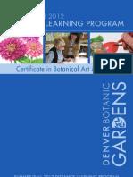 2012 Summer - Fall Distance Learning Program for Denver Botanic Gardens' Botanical Art and Illustration Program