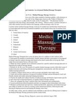 Employment - International Use of Medical Massage Therapies - Modalities