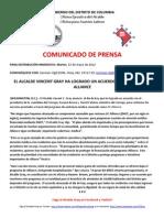 PRESS RELEASE/COMUNICADO DE PRENSA