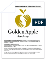 2012 Golden Apple Academy of Educators Manual - May 2012