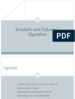 Kruskal's and Dijkstra's Algorithm