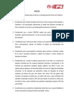 Moção «A Extinção da Empresas Municipais de Sintra e a Salvaguarda dos Postos de Trabalho»