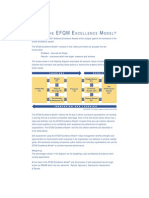 Using the EFQM Excellence
