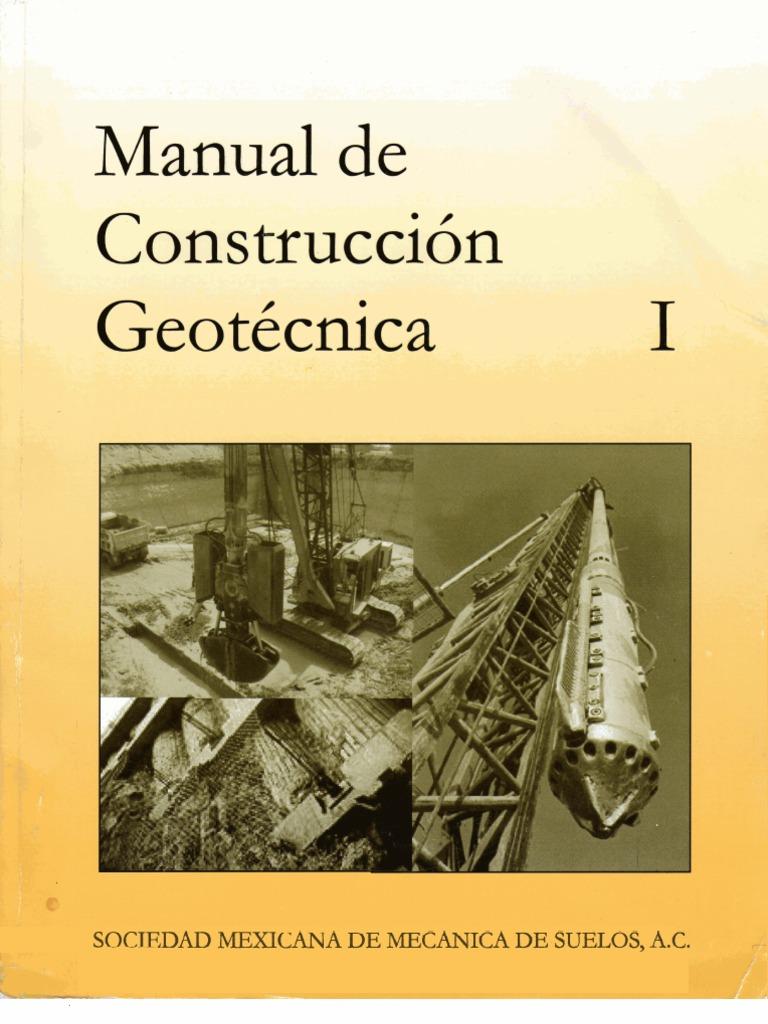 Manual de construcci n geot cnica for Manual de construccion