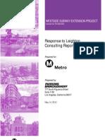 Metro Response to Leighton Report