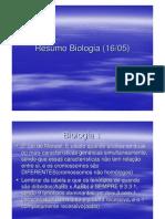 Resumo Biologia (09