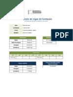 Medição de vigas de fundação - Cálculo dos varões