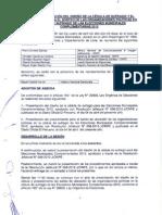 Acta de presentación del diseño de cédula