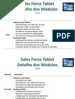 Descrição Detalhada dos Módulos do Sales Force Tablet