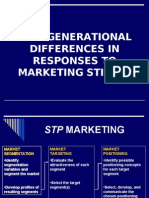 Inter Generational Differences in Responses to Marketing Sti