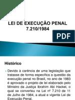 APRESENTAÇÃO LEI DE EXECUÇÃO PENAL