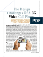 3G Video Cell Phone