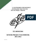 Senior Project Handbook 2011 2012 10-19-2011Update