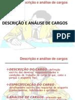 Descrição e Análise de Cargos
