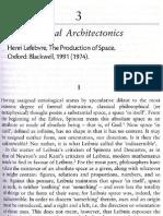 Lefebvre Spacial Architectonics