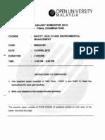 EMSH5103 Safety Exam Paper _Jan 2012