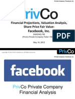PrivCo Facebook Valuation