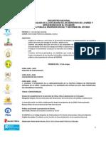 Agenda Encuentro Nacional