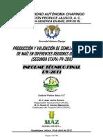 Producción de Semilla de Maíz 2011, Jal.; UACh-Funprojal-GEGEMA