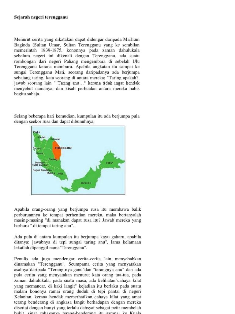 Sejarah Negeri Terengganu