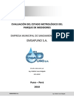 Evaluación del estado del parque de medidores EMSAPUNO