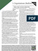 Earth Negotiations Bulletin - summary of May 15th 2012