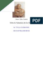 Ciceron, Marco Tulio - Sobre La Naturaleza de Los Dioses Bilingue