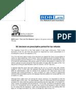 158. SC Decision on Prescriptive Period for Tax Refund.icn.08.26.10