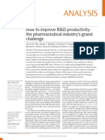 How to Improve R&D Productivity