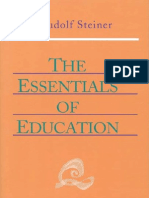 Rudolf Steiner, Essentials of Education