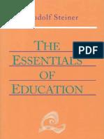 Rudolf Steiner, Essentials of Education
