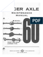 Dana 60 Axle Repair Manual