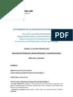 Programa VII Congreso SELat (Toledo, 13-16 junio 2012)