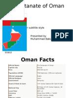 Oman Presentation