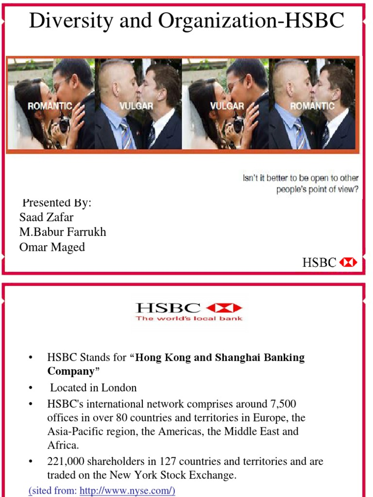 Final Hsbc diversity presentation | Hsbc | Multiculturalism