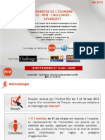 Baromètre de l'économie Vague 43 - Mai 2012