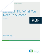 Essential Itil What You Need to Succeed