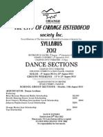 2012 Dance Syllabus