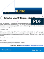 Calculus Law of Exponential Change