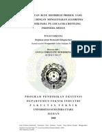 PENENTUAN RUTE DISTRIBUSI PRODUK YANG OPTIMAL DENGAN MENGGUNAKAN ALGORITMA HEURISTIK PADA PT. COCA-COLA BOTTLING INDONESIA MEDAN