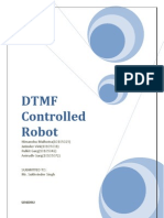 DTMF Controlled Robot