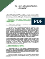 GUÍA PARA LA ELABORACIÓN DEL HERBARIO