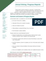 Online Technical Writing_ Progress Reports