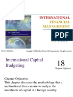 18 International Capital Budgeting
